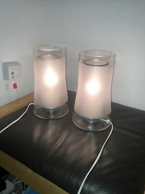Ikea Two Glass Bedside Lamps Syre • 20£