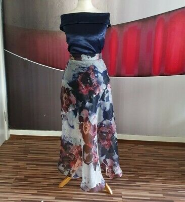 Gorgeous Coast Satin Organza Floral Outfit/dress Size 16 • 3.20£