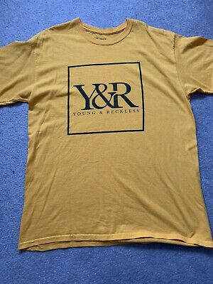 Young & Reckless Mens Oversized Yellow T-Shirt Top Size Large • 9.99£