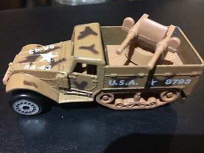 $12 • Buy Diecast M3 Armored Half Track, With Twin .50 Calibers By Zylmex Great Used Shape