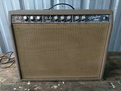 $ CDN1769.85 • Buy Vintage Vibrolux Tube Amp 6g11a Fender Brownface As Found Restoration Jensen 61