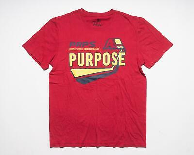 PRPS Goods & Co. NWT Red Yellow Navy Racing 100% Cotton T-Shirt Tee Shirt M • 52.50£