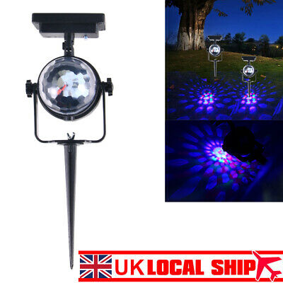 Solar Spot Lights LED Colour Changing Projection Stake Garden Light Outdoor • 8.58£