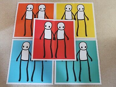 STIK Posters Complete Set Of 5 Red Blue Orange Yellow Teal MINT • 479£