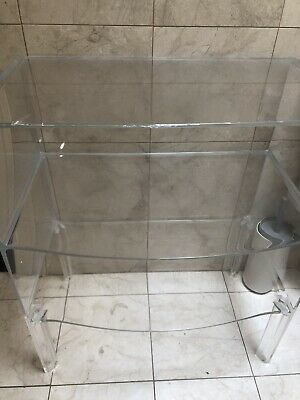 AU102.50 • Buy Kartell Clear Perspex Side Table With Two Shelves Space Furniture