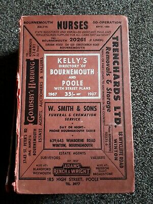 Kelly's Directory Of Bournemouth And Poole 1967 Genealogy • 10£