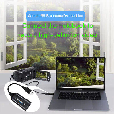1080P 60fps Capture Card Live Streaming USB To HDMI Portable Mini Game Recording • 11.46£