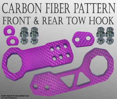 $ CDN23.45 • Buy JDM 2  Anodized Billet CNC Aluminum Racing F. & Rear Tow Towing Hook Purple B410