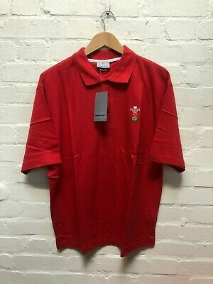 Reebok Wales Rugby WRU Men's Basic Polo Shirt - Red - New • 9.99£
