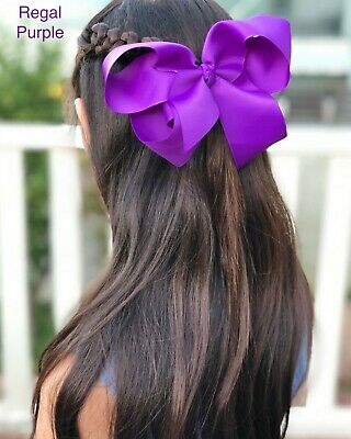 AU6.97 • Buy Hair Bow 6  Jojo Style Large Accessories Girl Teen Kid Toddle School Dance Party