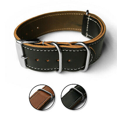 $125 • Buy 24mm GENUINE HORWEEN SHELL Cordovan Leather Watch Band Strap - Military Style