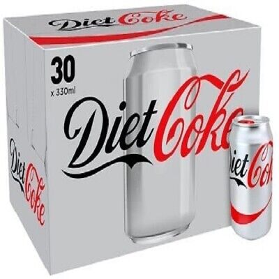 Diet Coke Cans Full Tray 30 X 330ml New Boxed • 28.49£