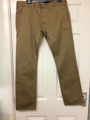 Edwin 55 Compact Beige Chinos Trouser W:33 L:33 - Brand New With Tags • 30£