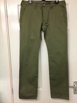 Edwin 55 Compact Green/khaki Chinos W:33 L:33 New Without Tags • 30£