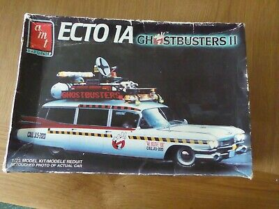 AMT/Ertl 6017 ECTO 1A Ghostbusters II  1/25 Rare Model Kit 1989 Release • 24.99£
