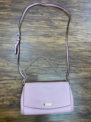 $ CDN72.34 • Buy Authentic Kate Spade Pink Leather Envelope Chain Strap Crossbody Bag