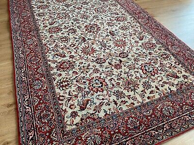 Vintage Harrods 100% Persiana Wool Rug Floral Animals 224 X 137 Cm (7'4  X 4'6 ) • 53£