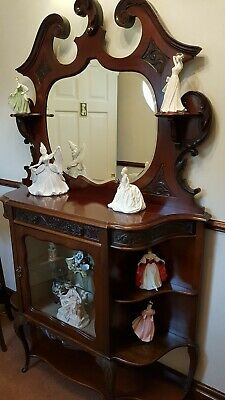 Antique Mahogany Display Cabinet • 1£