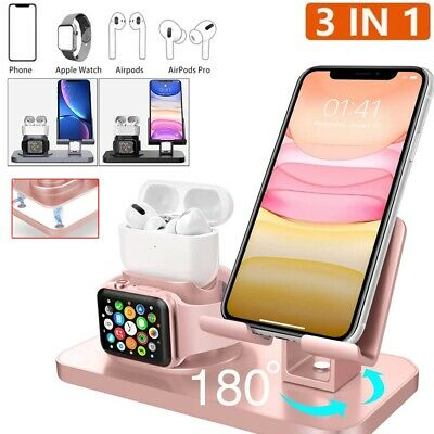 AU21.55 • Buy 3 In 1 QI Wireless Charger Charging Station Dock For IWatch IPhone IPad AirPod