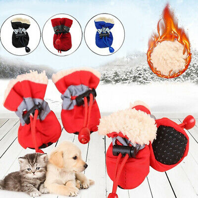 Waterproof Thick Puppy Socks Footwear Rain Snow Boots Warm Dog Shoes Pet Shoes / • 3.52£