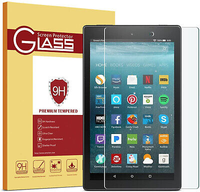 £3.49 • Buy 9H Tempered Glass HD Film Screen Protector For Amazon Kindle Fire HD 7 2015-2019