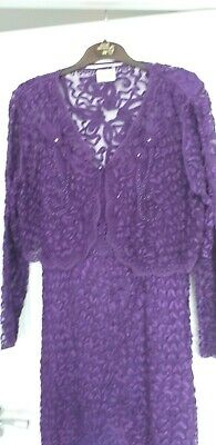 Gorgeous Purple Dress And Jacket V Special For Party/wedding/celebration 16/18 • 20£