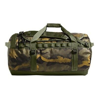 The North Face Base Camp 95L Large Duffel Olive Camo & Base Camp Travel Wash Bag • 60£