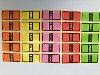 £2.99 • Buy 5 Colours = 50 Cable Id Tidy Stickers Self Adhesive Sticky Identification Labels