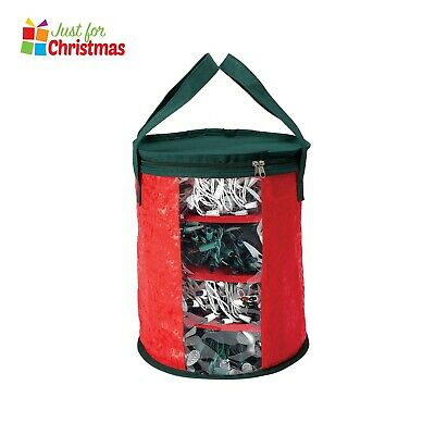 Christmas Xmas Storage Zip Bag Tree Lights Storage Box Large Handles Organiser • 11.95£