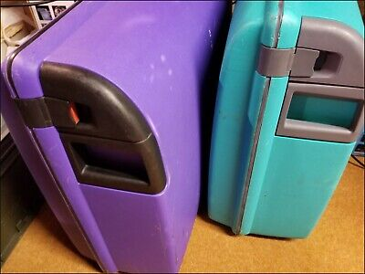 EQUATOR Hard Shell Suitcase Set X2 - Blue & Purple. COLLECTION ONLY • 16£