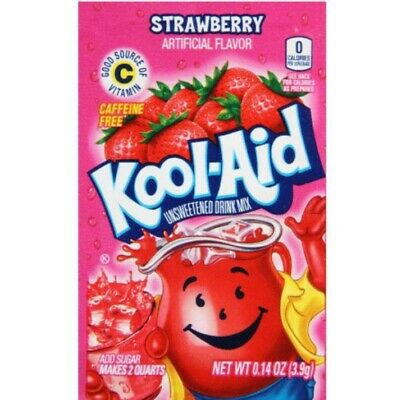 🍓🍓Kool-Aid 🍓 Drink Mix 🍓 8 Packets Strawberry 🍓 New .  🍓 Strawberry 🍓 🍓 • 4.59£