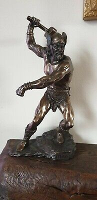Thor Norse God Statue, Bronze Finish, 10.75 Inches Tall, Pagan, Viking • 40£