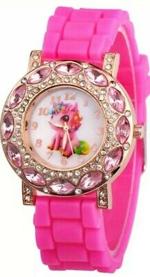 £16.80 • Buy Girls Unicorn Watch Pink With Gems. Learn The Time, Unique Wonderful Kids Gift
