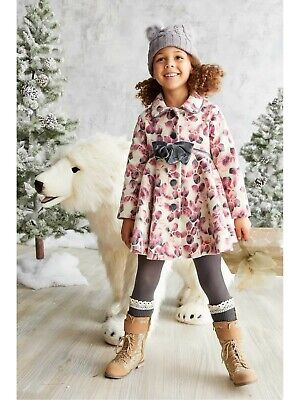 $62 • Buy Girls Pink Floral Coat Mack & Co Chasing Fireflies Size 7 NEW