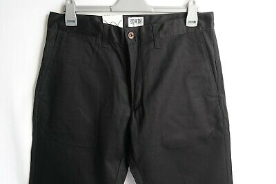 Edwin - Classic Chino - Compact Twill - Black Unwashed - 34/33 - BNWT • 40£