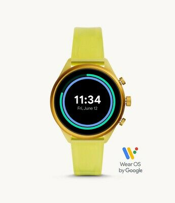 AU106.50 • Buy Fossil Sport Touchscreen Heart Rate GPS Yellow Silicone 41mm SmartWatch FTW6060