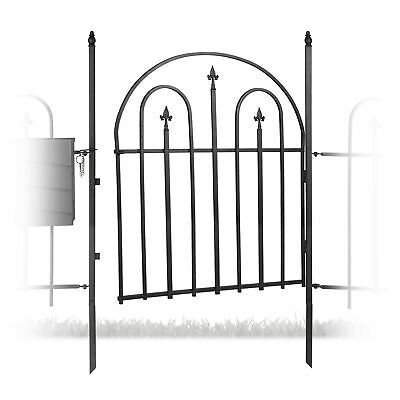 £104.90 • Buy Metal Garden Gate With 2 Posts, Arches And Spikes, Garden Fence Door, Antique