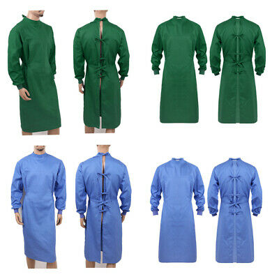 Surgical Gown Long Sleeve Uniform Hospital Workwear Reusable Protective Clothing • 22.89£