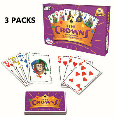 AU36.99 • Buy 3PCS Xmas Party GameFive Crowns Card Game 5 Suites Classic Original Family Rummy