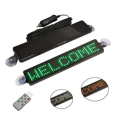 12V LED Car Programmable Message Sign Moving Scrolling Display Board With Remote • 17.59£