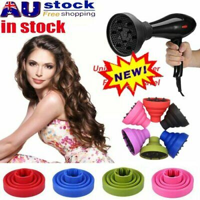 AU13.76 • Buy Silicone Hair Dryer NEW Universal Salon Travel Foldable Diffuser Professional AT
