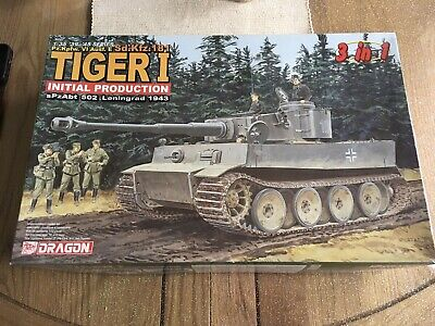 Dragon 1/35 Tiger 1 Initial Production Kit No 6252 Original 2005 Release 3 In 1 • 29.99£