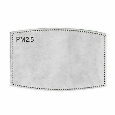 £2.30 • Buy PM2.5 FILTER For Washable Reusable Cotton Face Mask Activated Carbon 30x