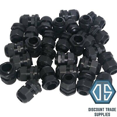 £0.99 • Buy 20mm Black Waterproof IP68 Compression TRS Cable Stuffing Gland Locknut M20