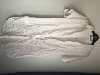 All Saints Womens White Button Up Shirt Dress Cover Up Size 10 • 2.80£