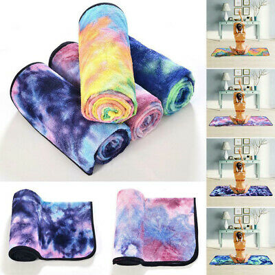 Portable Foldable Non-slip Superfine Fiber Tie-Dyeing Yoga Mat Printing Towel • 13.99£