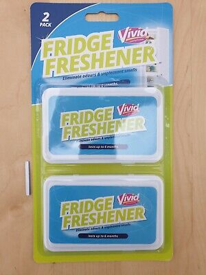 Vivid 2x FRIDGE FRESHENER Deodoriser Kitchen Air Remove Smell Eliminate Odour • 2.49£