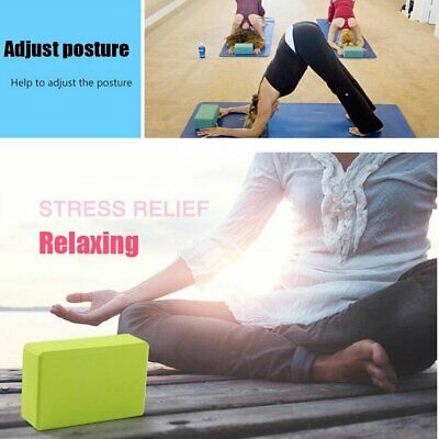 Yoga Block Pilates Foam Foaming Brick Stretch Health Fitness Exercise Gym • 4.99£