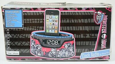 AU36.72 • Buy Monster High Alarm Clock Radio IPhone IPod Dock With Box