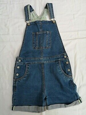 Mini Boden Girls Blue Dungaree Shorts, Age 11-12 Years • 7.50£